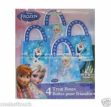 DISNEY FROZEN^ 4pc Set TREAT BOXES Party Supplies/Decoration GIFT BAGS New!