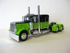Peterbilt Flattop Model Tractor 1/64th Scale Lime / Black DCP 3187