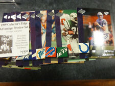 1999 COLLECTORS EDGE PREVIEW FOOTBALL SET 10 CARDS   MANNING