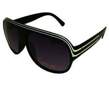 NEW UV400 MILLIONAIRE AVIATOR SUNGLASSES BLACK WHITE