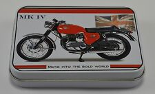 Collectable BSA Spitfire MKIV Motorcycle Keepsake/Tobacco Tin. Garage/Gift NEW!