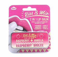 Kiss & Mix Lip Balm Duo - Raspberry Brulee - Raspberry & Vanilla  ( 2 in 1 )