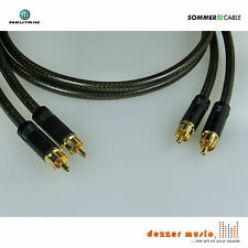 2x 1m Cinch-Kabel -Spirit XXL Neutrik/Rean- Sommer Cable - High End...druckvoll