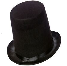 Mens Abe Lincoln High Top Hat Stovepipe Topper Men's Gents 20cm Tall New