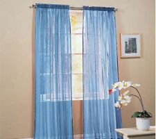 Valances Floral Tulle Door Window Curtain Drape Panel Voile Sheer Scarf Divider