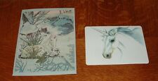 Set of 2: Vintage 1980's Unicorn Greeting Cards Michael Hague & Nanae Ito UNUSED