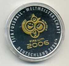 Offizielle Medaille FIFA Fußball Weltmeisterschaft Deutschland 2006 Silber M_601