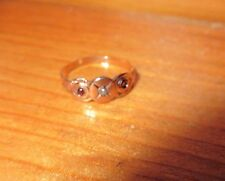 TINY ANTIQUE VICTORIAN  10K GOLD SEED PEARL & GARNET  BABY RING