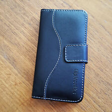 Fliptroniks Black Samsung Galaxy Note 4 Genuine Leather Case Cover