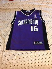 VTG Reebok NBA Sacramento Kings Peja Stojakovic Boy's Small Basketball Jersey