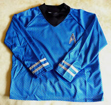Official Deluxe Blue Star Trek Shirt With Pants Spock (Kids Size L 12-14)