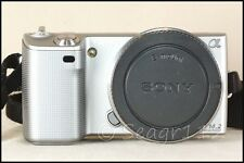 Sony Alpha NEX 5 14.2 MP  ILCE E Mount Silver Camera Body - Mint Minus