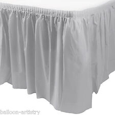 14ft Plastic SILVER Table Skirt wedding party