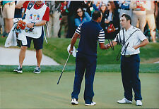 Francesco MOLINARI SIGNED Autograph 12x8 Photo with Tiger WOODS AFTAL COA