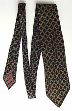 Vintage black tie with check pattern Men's traditional office or casual wear