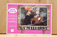LA MALIARDA fotobusta poster Maria Felix La noche del sabado 1950