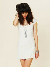 """NWOT- Free People """"Daisy Godet"""" Floral Eyelet Lace Tea Dress in Ivory White- L"""