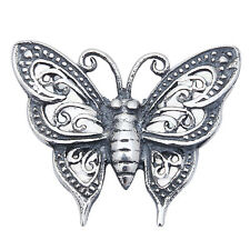 FILIGREE STYLE BUTTERFLY .925 Sterling Silver Pendant .5""
