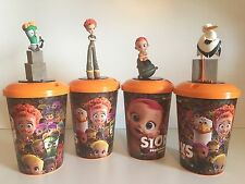 STORKS MOVIE - CHARACTERS, CUPS & LIDS - 4ea