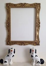 Large Vintage Baroque Gilt Picture Frame with Ornate Corner Detail - Gold
