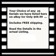20  Cliffhanger Serial Movies on DVD - Your Pick Only $69.99 + Free Shipping