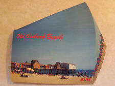 MAINE, OLD ORCHARD BEACH, ME. PEOPLE! IDENTICAL POSTCARD LOT OF 25 UNUSED! PC 3d