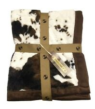 FAUX FUR ANIMAL PRINT THROW BLANKET - HORSE, EQUINE