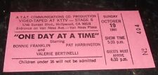 "Original TV Show Taping Ticket Hollywood "" One Day At A Time"" 1980"