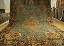 9.7 x 12 Handmade Vintage 1930s SIGNED Persian Tabriz Wool Rug _Beautiful Colors