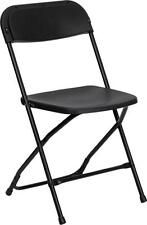 HERCULES Series 800 lb. Capacity Premium Black Plastic Folding Chair NEW