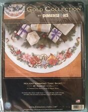 Holiday Harmony Dimensions GOLD COLLECTION Christmas Tree Skirt Kit Cross Stitch