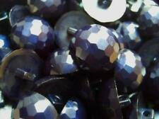 10 x 15mm PEARLED DOME SHAPED HALF BALL DIAMOND EFFECT PLASTIC ITALIAN BUTTONS