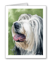 BEARDED COLLIE Set of 10 Note Cards With Envelopes