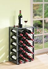 23 bottiglia vino rack con VETRO TABLE TOP CHAMPAGNE Storage titolari DECOR Display