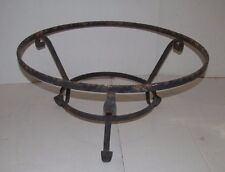 Vintage 1950's Wrought Iron Round Table Base Legs Industrial Mid Century Modern
