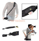 Quick Rapid Single Shoulder Sling Black Belt Strap for Digital SLR DSLR Camera