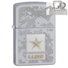 Zippo 29388 US Army Satin Lighter with PIPE INSERT PL