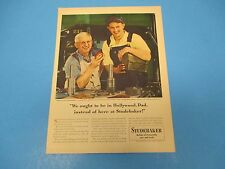 1948 Print Ad, Studebaker, Builder of trustworthy cars and trucks, auto, PA015