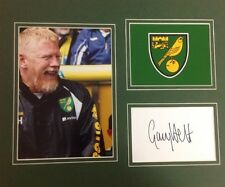 A 12 x 10 inch mounted display personally signed by Gary Holt of Norwich City