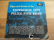 """PIPES AND DRUMS OF THE EDINBURGH CITY POLICE PIPE BAND - 10"""" LP /VINYL - ABL 515"""
