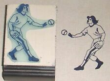 Softball Player female Rubber Stamp by Amazing Arts