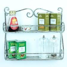 Vintage Kitchen Rack Storage Spice Wall Mount Towel Holder Metal Spices Stand