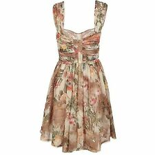BEAUTIFUL ALL SAINTS VINTAGE STYLE SILK FLORAL DRESS SIZE 12 BNWT