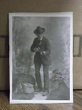 Vintage Cabinet Card Photograph-Cowboy with Rifle-106-J36