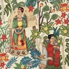 1m Frida's Garden Tea Fabric - Alexander Henry. Frida Kahlo Mexican Art
