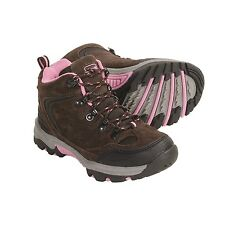 Kamik Water Resistant Brown/Pink  Leather Hiking Boots Youth Size 6 M