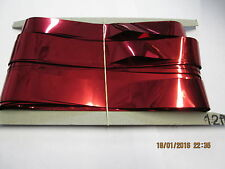Red Slash (Foil) 12ft drop Shimmer Curtains for Theatre / Stage / Party / Xmas