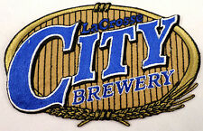 Lacrosse La Crosse City Brewery Beer Oval Uniform Patch #O-Bk