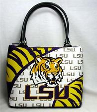 LSU Tigers Ladies Vortex Fashion Purse Louisiana Tote Handbag Game Day NCAA #700