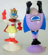 1989 Wendy's Mighty Mouse Petey Pete And Bat Bat Suction Cup Figures